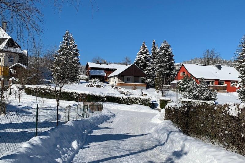 Vnější pohled v zimě